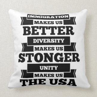 Pro immigration throw pillow