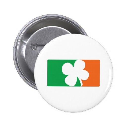 Pro Irish - St Patrick's Day Drinker Ireland Flag Pinback Buttons