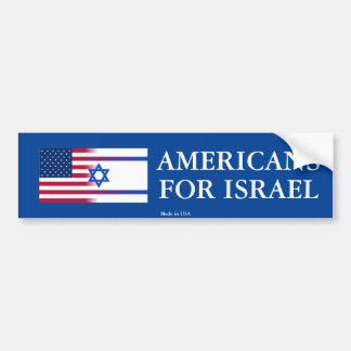 Pro-Israel Americans for Israel Bumper Sticker
