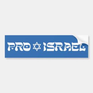 Pro Israel Bumper Sticker