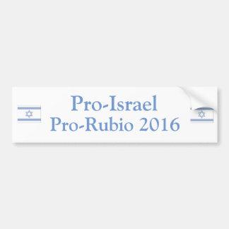 Pro Israel Pro Rubio 2016 Bumper Sticker