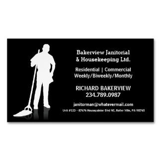 Pro Janitorial Housecleaning Magnet Advertisment Business Card Magnet