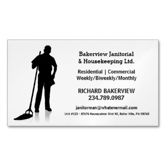 Pro Janitorial Housecleaning Magnet Advertisment Magnetic Business Card
