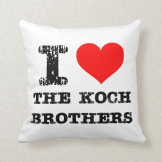 Pro Koch Brothers Throw Pillow