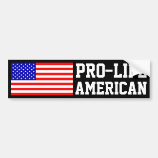 Pro-Life American Bumper Stickers