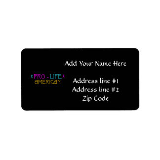 Pro-Life American Label