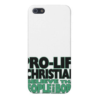 """""""Pro-Life and Christian"""" iPhone 4 Case"""