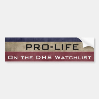 Pro-Life and On the List Bumper Sticker