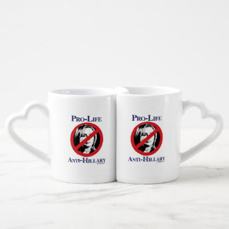 Pro-Life Anti-Hillary Lovers Mug Set