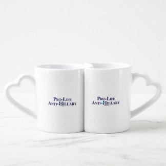 Pro-Life Anti-Hillary Lovers Mug Sets
