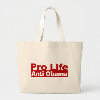 Pro Life Anti Obama Canvas Bags