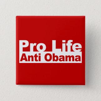 Pro Life Anti Obama Button