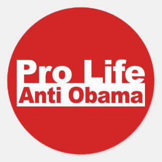 Pro Life Anti Obama Round Stickers