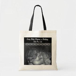 Pro-life baby angel vote pro-life bag