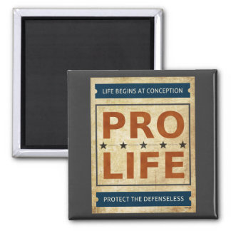 Pro Life Billboard 2 Inch Square Magnet