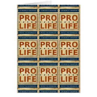 Pro Life Billboard Card