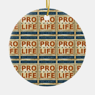 Pro Life Billboard Double-Sided Ceramic Round Christmas Ornament