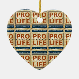 Pro Life Billboard Double-Sided Heart Ceramic Christmas Ornament