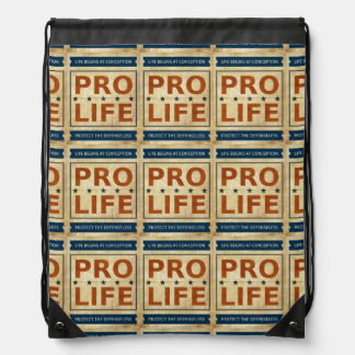 Pro Life Billboard Drawstring Backpack