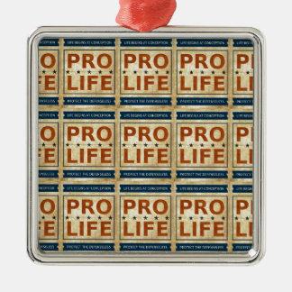 Pro Life Billboard Metal Ornament