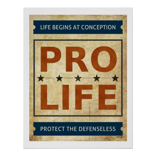 Pro Life Billboard Print