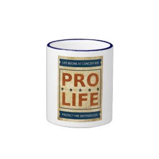 Pro Life Billboard Ringer Coffee Mug
