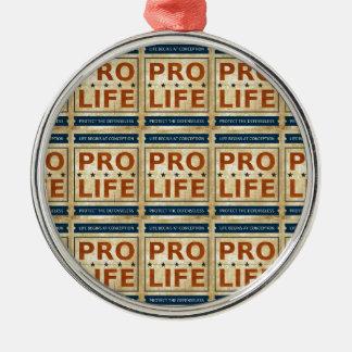 Pro Life Billboard Round Metal Christmas Ornament