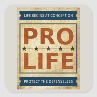 Pro Life Billboard Square Sticker