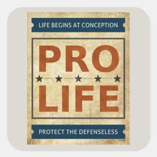 Pro Life Billboard Square Stickers