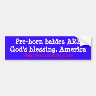 pro-life blessing bumper sticker car bumper sticker