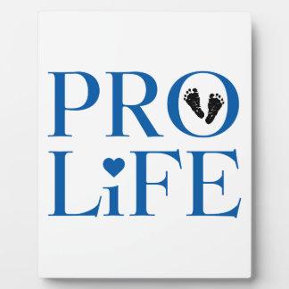 Pro Life Blue Photo Plaque