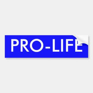 PRO-LIFE CAR BUMPER STICKER
