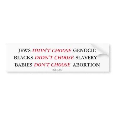 USA Themed Pro-Life Bumper Sticker