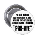 """Pro-life"" button"
