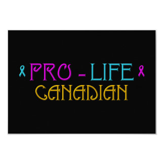 PRO-LIFE CANADIAN CARD