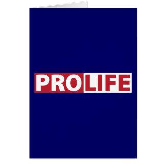 Pro Life Card