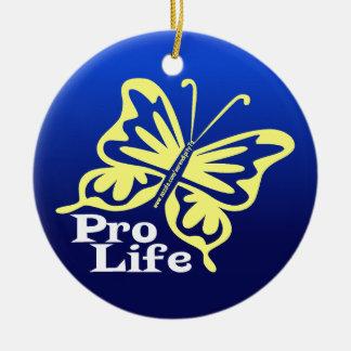 Pro Life Ceramic Ornament