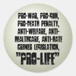 Pro-Life Classic Round Sticker