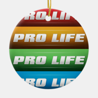 Pro Life Collage Double-Sided Ceramic Round Christmas Ornament