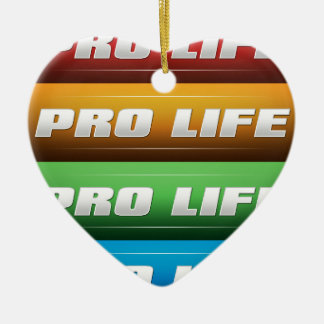 Pro Life Collage Double-Sided Heart Ceramic Christmas Ornament