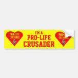 PRO LIFE CRUSADER CAR BUMPER STICKER