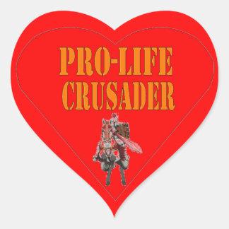 PRO LIFE CRUSADER HEART STICKER