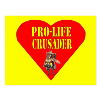 PRO LIFE CRUSADER POSTCARD