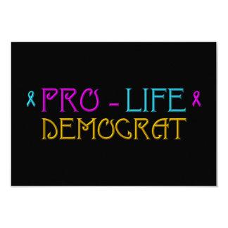 "Pro-Life Democrat 3.5"" X 5"" Invitation Card"