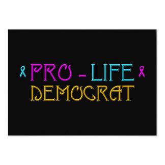"Pro-Life Democrat 5"" X 7"" Invitation Card"