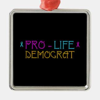 Pro-Life Democrat Metal Ornament