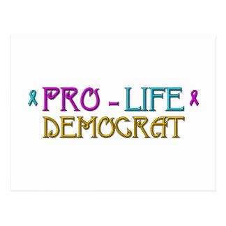 Pro-Life Democrat Postcard