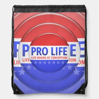 Pro Life Drawstring Bag