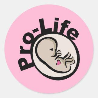Pro-Life Fetus Design Classic Round Sticker