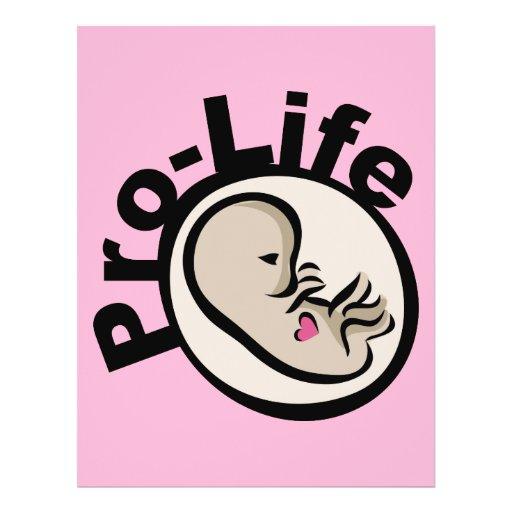Pro-Life Fetus Design Flyers